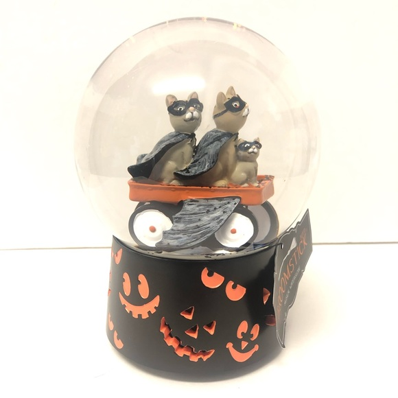 Broomstick Blvd Other - Halloween Cats Snowglobe Musical Waterglobe NEW